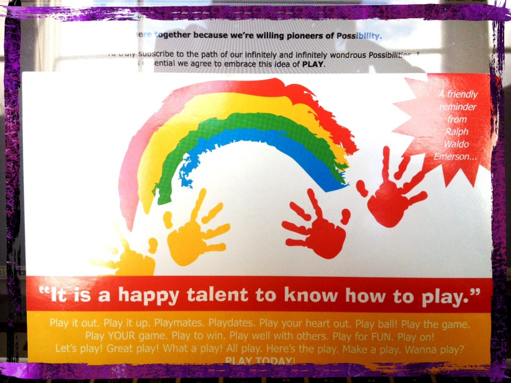 It's a happy talent to know how to play!